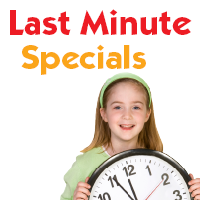 Party Planning?  See all our Last Minute Specials!