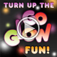 See a Pump It Up Glow Party.  Watch it now!
