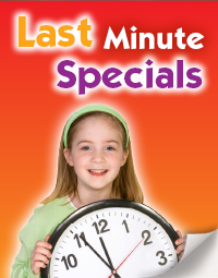 Check out our last minute specials