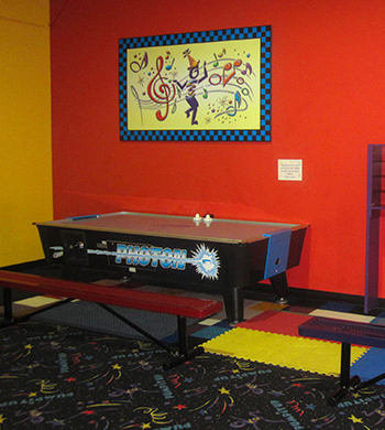Air Hockey at Pump It Up
