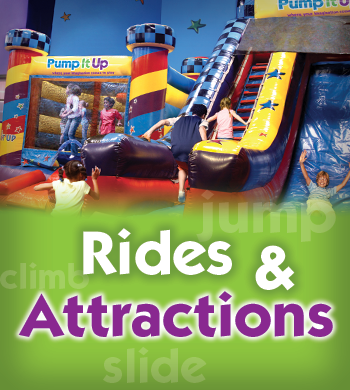 Rides and Attractions at Pump It Up