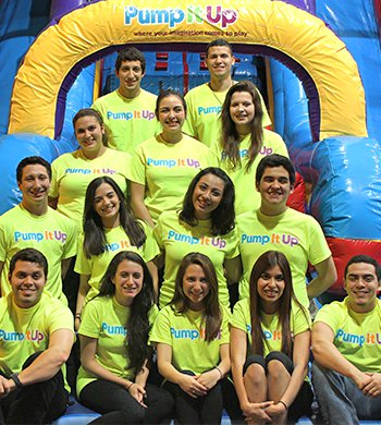 The team at Pump It Up McAllen