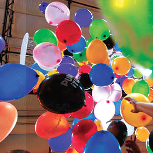 Add a Balloon Drop to any birthday party