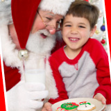 Jolly Jump Cookies with Santa