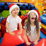 Bounce house? Winter Wonderland? We've got both