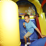 bounce house obsticle course