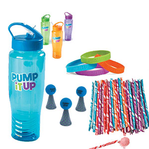 Water Bottle Goodie Bags with Foam Hopper