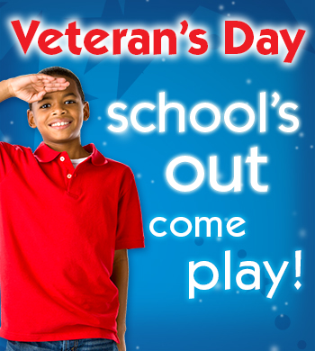 Pump It Up is one of the fun places to go on Veteran's Day