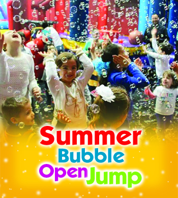Looking for activities for kids? Our Open Jump with bubbles is the perfect fit