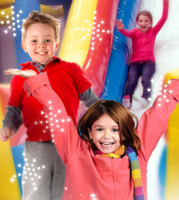 Pump It Up is an indoor playground winter wonderland