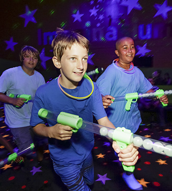 Add glow wars to your birthday party