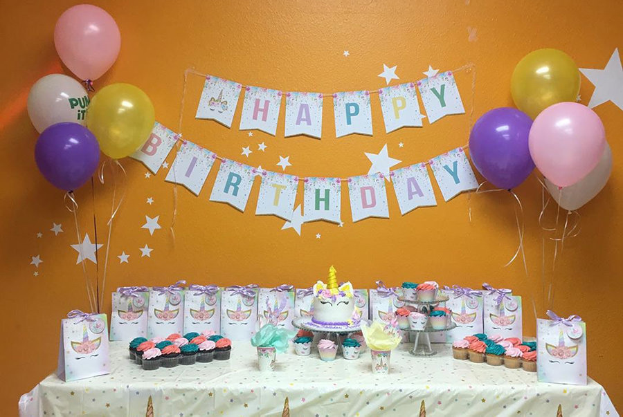 Unicorns, beaches and more, have an awesome party at Pump It Up.